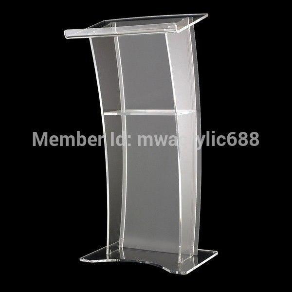 Mobilya'ten Okul Setleri'de Minber furnitureFree kargo istikrarlı Modern tasarım ucuz şeffaf akrilik Lecternacrylic minber pleksiglas title=