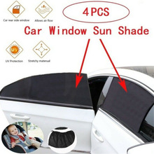 4PCS Car Window Sunshade Cover Block For Kids Car Side Window Shade Sunshades Sun Shade Cover Visor Shield Screen Anti-mosquito