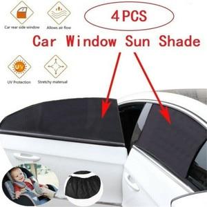 4 Uds. De parasol para ventana de coche, protector para coche para niños, parasol lateral, cubierta tipo visera, antimosquitos