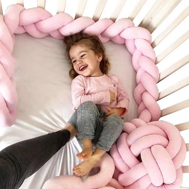 Newborn Room Shatter-resistant Fence Hand-woven Long Knot Anti-collision Strip Baby Braid Twist Mattress Bed For Baby