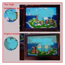 Pantalla LCD IPS de 10 niveles de alto brillo para Nintendo Game Boy Advance, consola de juegos GBA, retroiluminación, piezas de reparación de pantalla ajustables