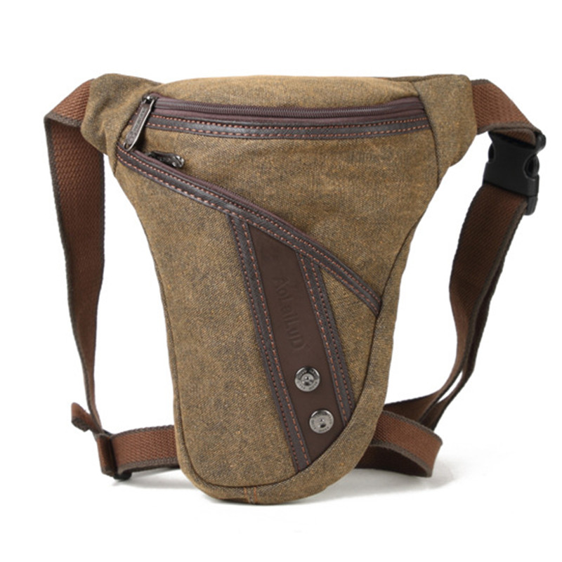 Men Thigh Fanny Pack Drop Bag Motorcycle Riding Shoulder Multi-functional Pouch Crossbody Nylon Male Hip Bum Belt Leg Waist Bags