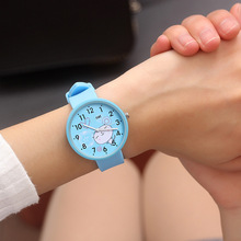 Dropshipping Silicone Baby Watch Girls Student Clock Fashion