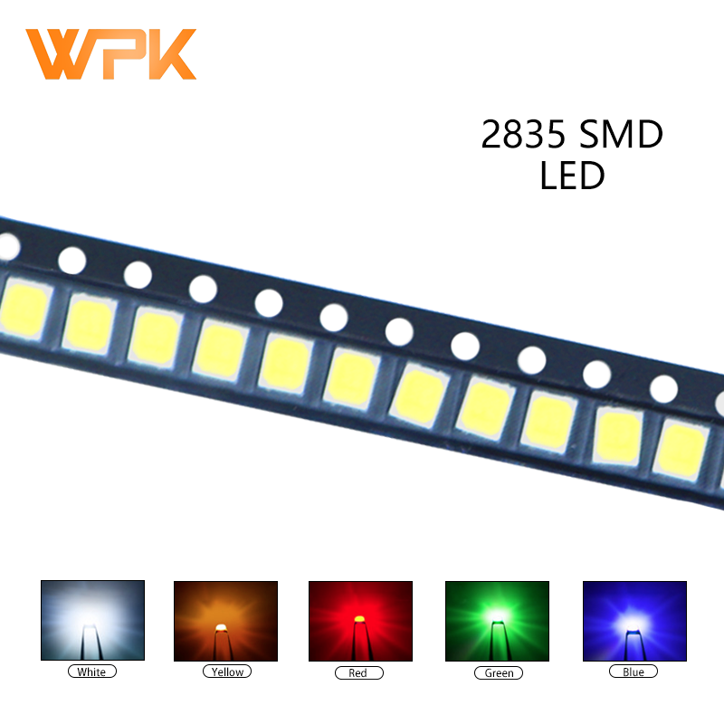 100 шт. 2835 SMD LED красный желтый и зеленый цвета белого и синего цвета оранжевый UV светильник светодиод PCB DIY Набор сортированных