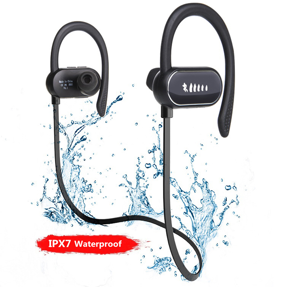 Wirless Sport Waterproof Neckband <font><b>Earphones</b></font> Head Phones Earbuds Headset Earpiece With Microphone For Cellphone Iphone Gamer Ps4 image