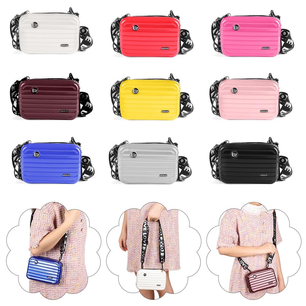 New Design Mini Suitcase Shape Shoulder Bag Women Girls Waterproof Messenger Box Clutch Bag Candy Color Handbag Ladies Wallet