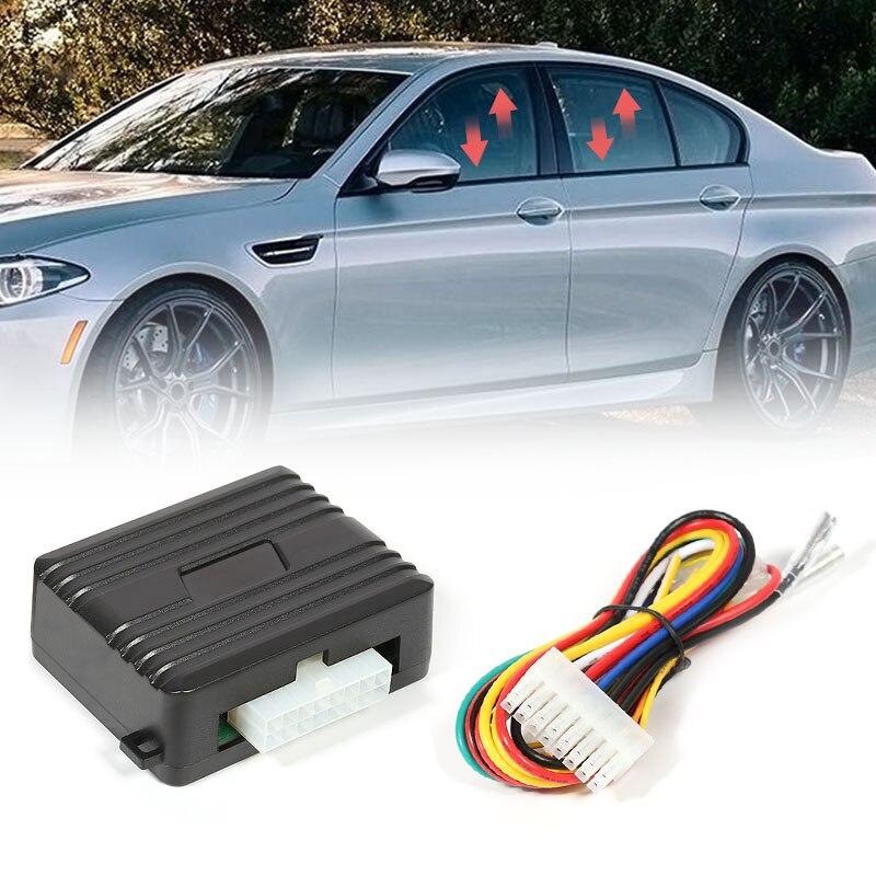 Universal 12V Ventana de alimentación del coche enrollable más cerca para 4 puertas Puerta de vehículo vidrio cierre automático Módulo de ventanas sistema de alarma