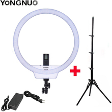 YongNuo YN608 Selfie halka ışık 3200K ~ 5500K bi renk sıcaklığı kablosuz uzaktan LED Video işığı CRI> 95 kolu kavrama