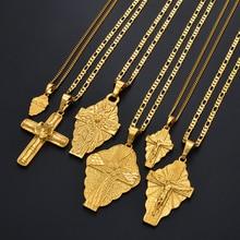 Anniyo 6 модель крест кулон цепи ожерелья для мужчин женщин девочек Гуам Гавайи Микронезия Chuuk Marshall Ювелирные изделия кресты#217206