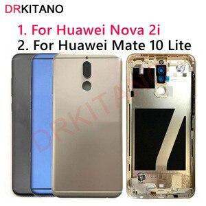 Image 1 - Für Huawei Mate 10 Lite Zurück Batterie Abdeckung Nova 2i Hinten Tür Gehäuse Fall RNE L21 Für Huawei Mate 10 Lite batterie Abdeckung Ersetzen