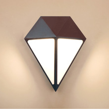 Creative Diamond LED Aluminum Frame Outdoor Wall Light 12W Garden Lamp IP65 Modern