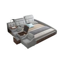 Smart bed frame camas кровать двуспальная lit beds سرير muebles de dormitorio мебель speaker bluetooth LED USB charging dresser