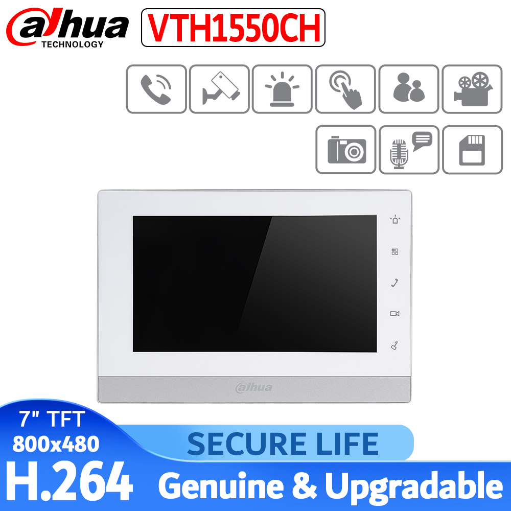 VTH1550CH Indoor Monitor 7-inch 800X480 Resolution Touch Screen Color IP Video Intercom
