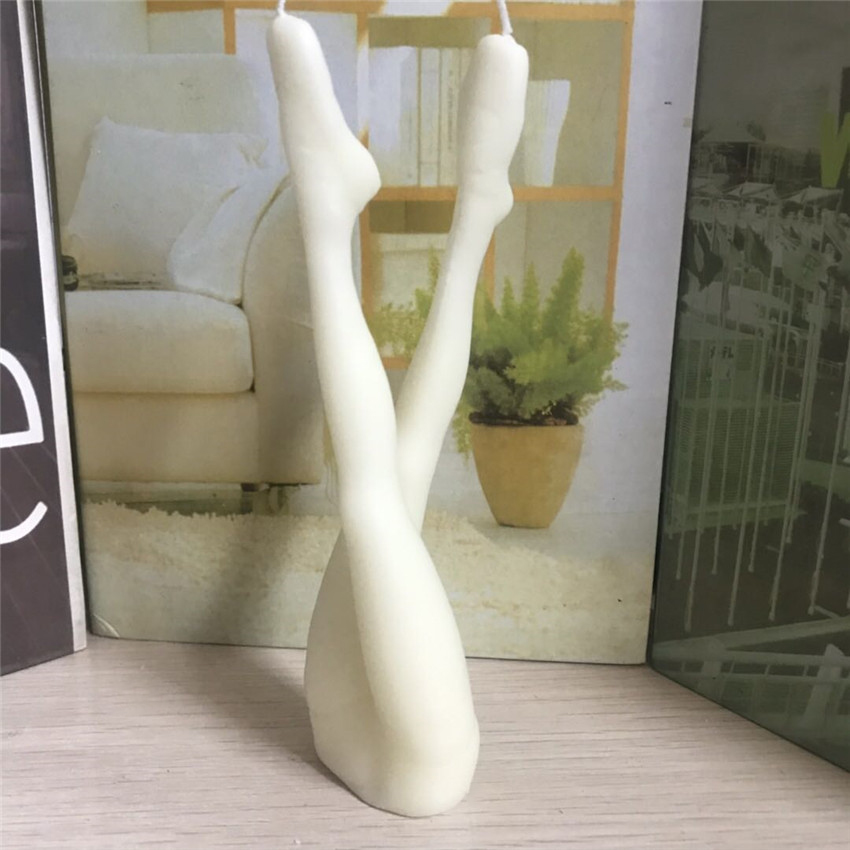 1Pc créatif corps humain bougie corps en forme Art bougies maison salon fête décoration jambes bougie ornements à la main artisanat