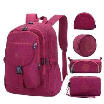 5 шт./компл. ACEPERCH для девочек подростков школьные сумки для мальчиков школьного рюкзака Для женщин рюкзак, студенческий рюкзак, рюкзак, рюкза...