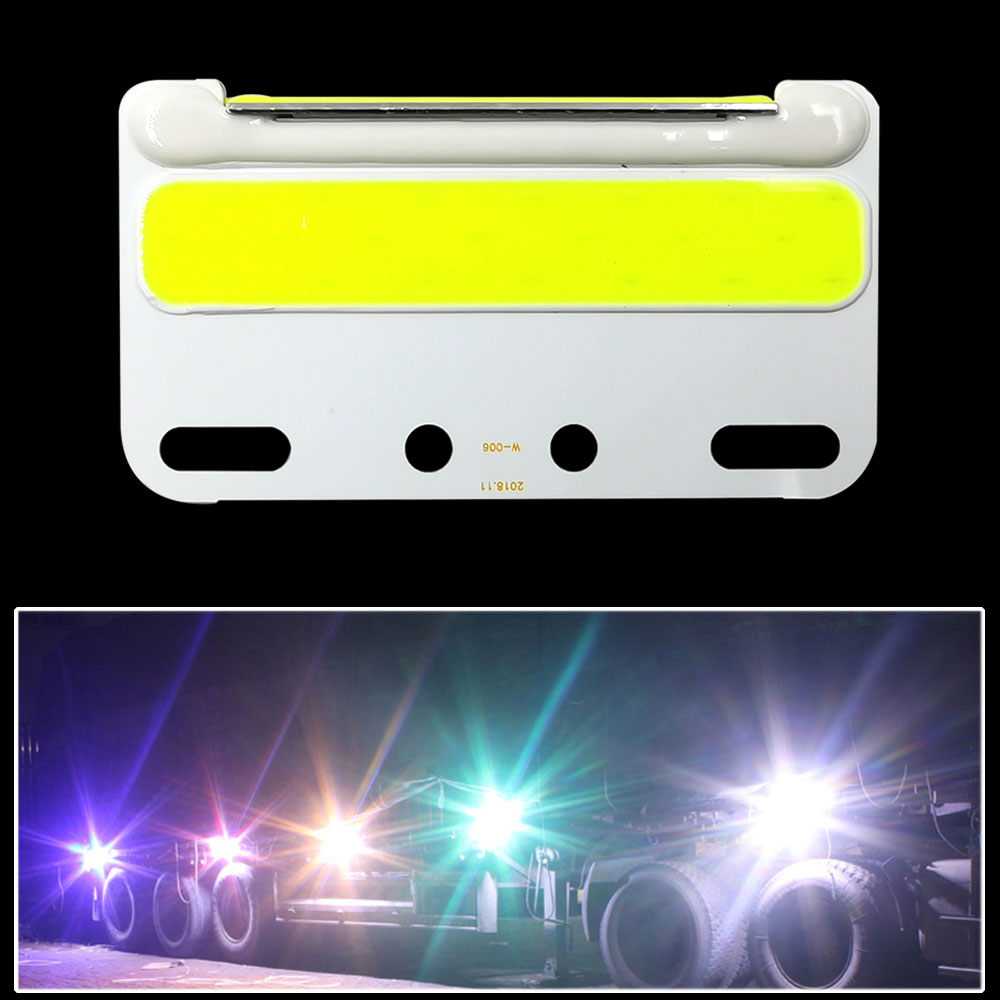 COB LED Truck Side Light Yellow Red Blue Green White Color Ultra Bright 24V LED For Truck Turning Lamp Lighting Bulb Accessories