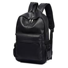 Fashion Men Backpack for Teenager Girls Luxury Designer Leather Backpacks Male Student Travel Laptop Backpack School Bag for Men цена 2017