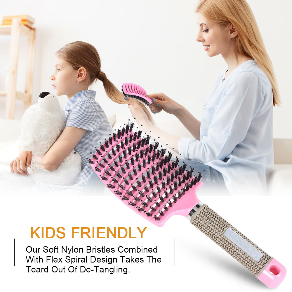 Hair Comb Scalp Massage Comb Salon Hairdressing Styling Tools Hairbrush Bristle Detangle Hair Brush Dropshipping Niche Product