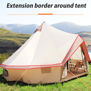 Image 2 - Large Space Mongolia Yurt Tent 8 10 Person Outdoor Waterproof Oxford Family Tent for Self drive Camping Wild Survival Picnic