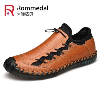 Brand Men Shoes Handmade Leather Comfort Loafers Split Breathable Flat Driving Shoe Mocasines Hombre