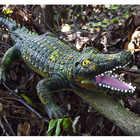 130CM gonflable animal sauvage jumbo crocodile modèle figurines jouets Simulation animal à sang froid décorer collection jouets pour enfants - 2