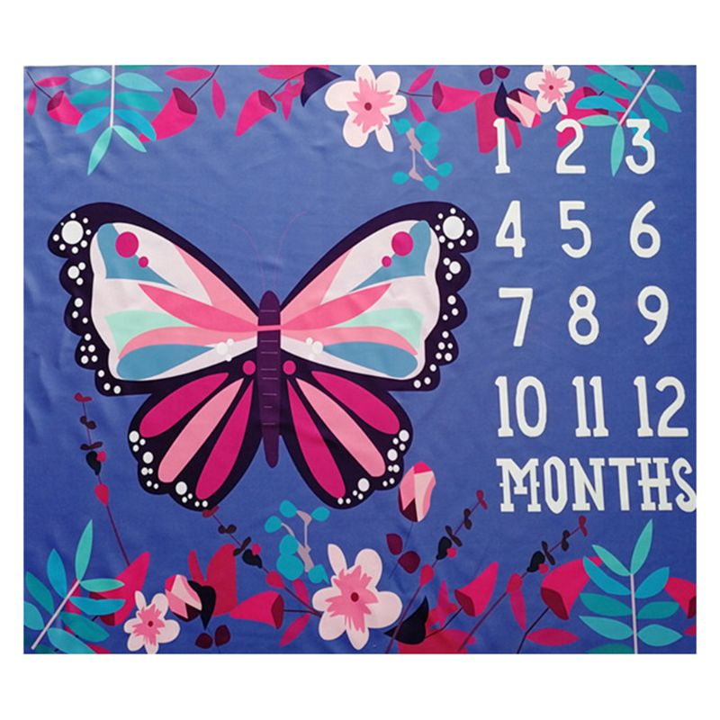 New Baby Photo Background Cloth Butterfly Pattern Newborn Creative Month Blanket Infants Photography Props 72XC