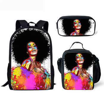 Black Queen African American Girl School Bag For Teenagers 3