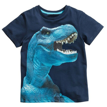 Buy3get5% 2-8Years 4Style Dinosaurs Print Baby Boys T Shirt Summer New Children Kids Boy's Shorts Sleeve Clothes Boys Tops Tees
