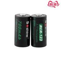 Soshine 3.7V CR123 16340 700mAh Lithium Rechargeable Battery RCR123 CR123A Li-ion Batteries for Laser Pen LED Flashlight Cells