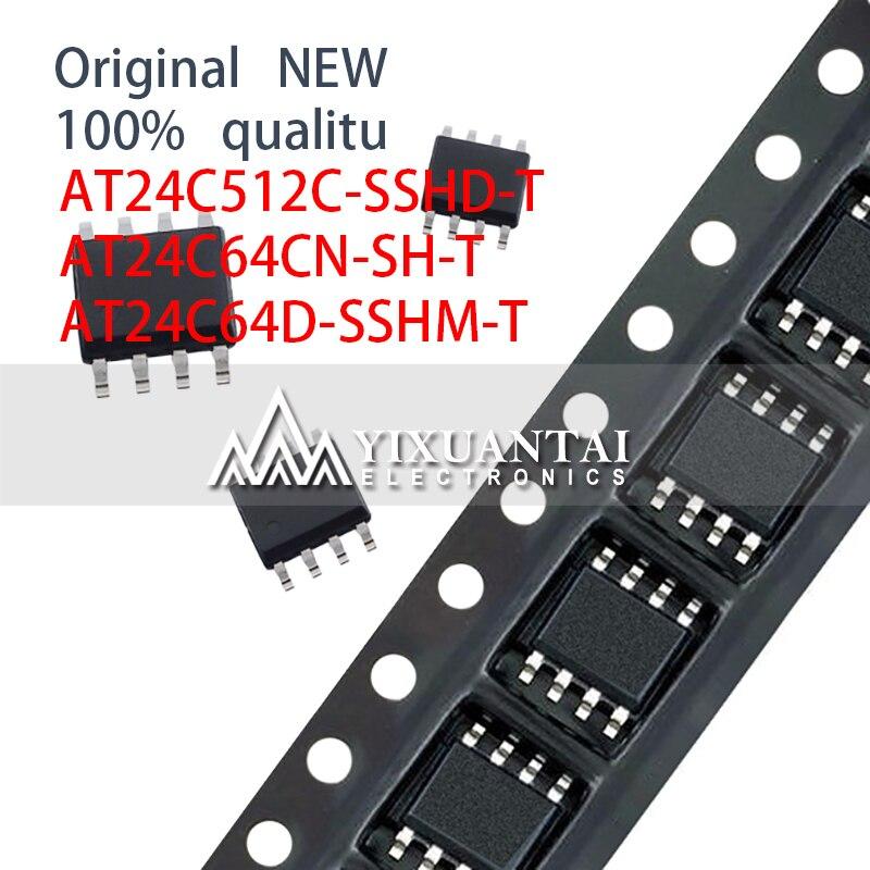 10pcs 100% NEW SOP8 SMD AT24C512C-SSHD-T AT24C64CN-SH-T AT24C64D-SSHM-T AT24C512C AT24C64C AT24C64 AT24C512 AT24C64 24C512 24C64