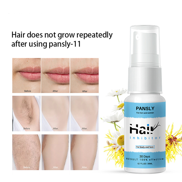 Painless 100% Natural Hair Remover Spay Hair Growth Inhibitor Spray Hair Removal From Body Legs Armpit Facial Unisex 5