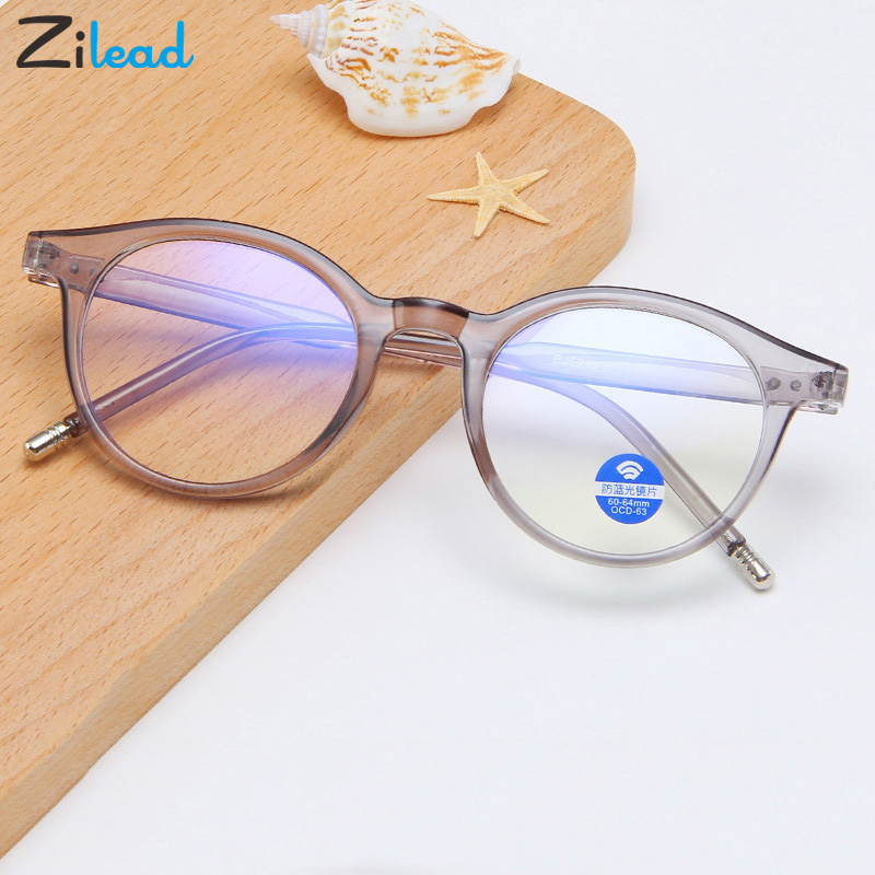 Zilead Computer Glasses Frame Anti Blue Light Blocking Filter Men Women Retro Ultralight Gaming Goggles Eyewear TR90 Eyeglasses