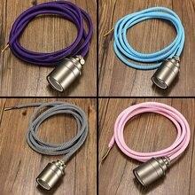2M E27/E26 Cable de tela Vintage colgante de luz de filamento lámpara de soporte de bombilla