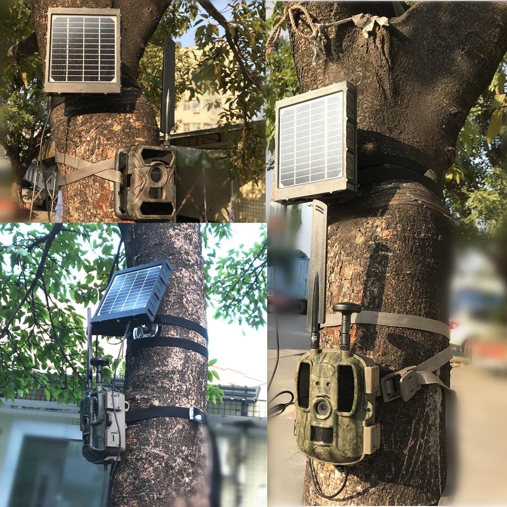 4g caca camera painel solar carregador 3 w para bl480l p foto armadilhas 3000 mah bateria