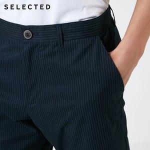 Image 4 - Wybrany męski jesień Slim Fit elastyczny bawełniany w paski spodnie S