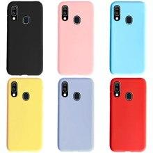 Para samsung a40 caso 2019 silicone macio tpu telefone volta capa para samsung galaxy a40 a 40 a405 a405f caso coque capa pára-choques