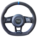 Braid on the Steering Wheel Cover for Volkswagen VW Golf 7 GTI Golf R MK7 VW Polo GTI Scirocco 2015 2016 capa para volante|Steering Covers|Automobiles & Motorcycles -