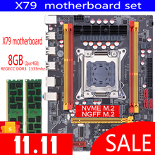 Qiyida X79 di serie della scheda madre con Xeon LGA2011 2PCS x 4GB = 8GB 1333MHz DDR3 ECC REG di memoria MATX NVME LGA 2011 della scheda madre X79 6M