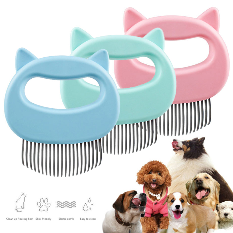Pet cat dog massage comb shell comb grooming hair removal shedding cleaning  brush TXTB1|Dog Combs| - AliExpress