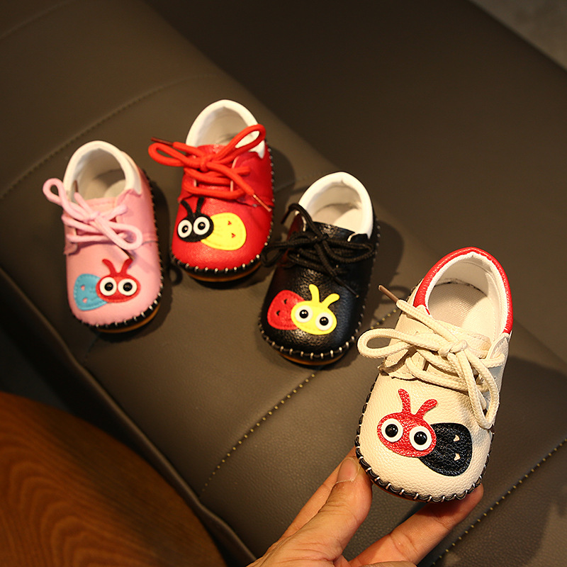 Autumn Baby Shoes Baby Soft Bottom Toddler Shoes 0-1 Year Old Children's Leather Cartoon Shoes