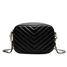 Women's Shoulder Bag Black High Quality PU Messenger Bag Designer Famous Brand Handbag Fashion Wallet 2019 New Women's Bag