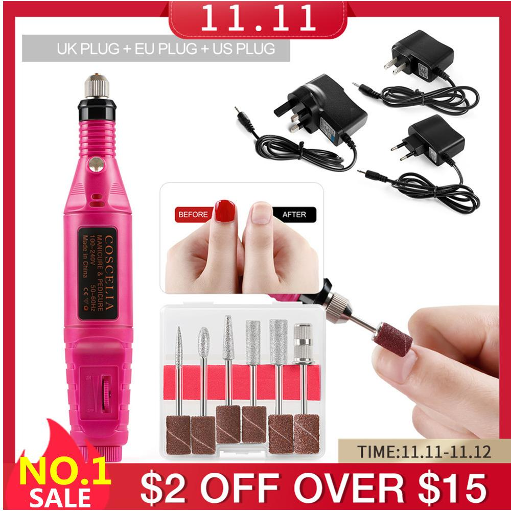 1Set Professional Electric Nail Drill Machine Kit Manicure Machine Nail Art Pen Pedicure Nail File Nail Art Tools Kit