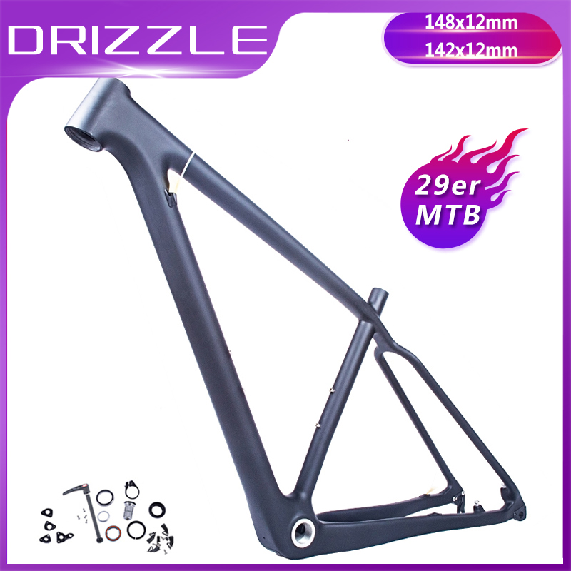 2019 New Carbon Mtb Frame Bike 29er Mountain Bicycle Parts Carbon Frame 142*12 Or 135*9mm 29 Ultralight Assembling Bicycle Frame