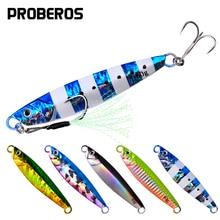 PROBEROS 5Pcs/lot Metal Cast Jig Spoon 7g-10g-14g-17g-21g-24g-30g-40g-60g Casting Jigging Lead Fish Sea Bass Fishing Lure Tackle