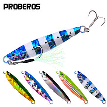 PROBEROS 5Pcs/lot Metal Cast Jig Spoon 7g-10g-14g-17g-21g-24g-30g-40g-60g Casting Jigging Lead Fish Sea Bass Fishing Lure Tackle