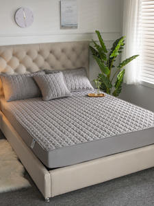 Mattress-Cover Bed-Pad QUILTED Anti-Mite Cotton Soft Air-Permeable Embossed Hypoallergenic