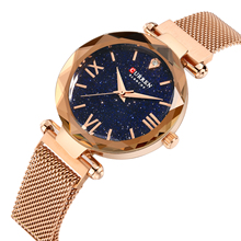 Luxury Watches Women Fashion Rose Gold Watch Curren Quartz Watches Ladies Dress Stainless Steel Wrist Watches Relogio Feminino curren women watches luxury gold black full steel dress jewelry quartz watch ladies fashion elegant clock relogio feminino 9015
