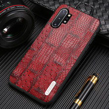 Echt Leer Retro Splice Telefoon Case Voor Samsung Galaxy Note 10 8 9 Plus S20 Ultra A50 A51 A70 A80 a30 S7 S8 S9 S10 S20 Plus(China)