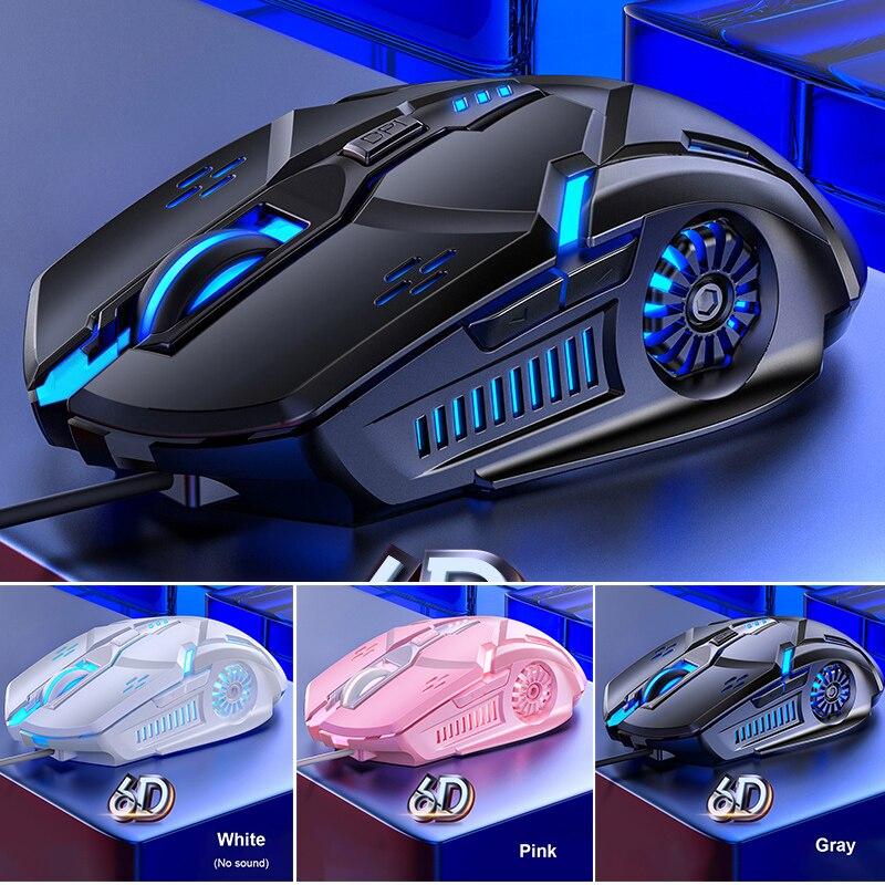 G5 gaming mouse 7 cor backlight usb com fio de mouse silencioso para gamer 3200 dpi ratos para computador portátil windows 7/8/10/xp vista linux