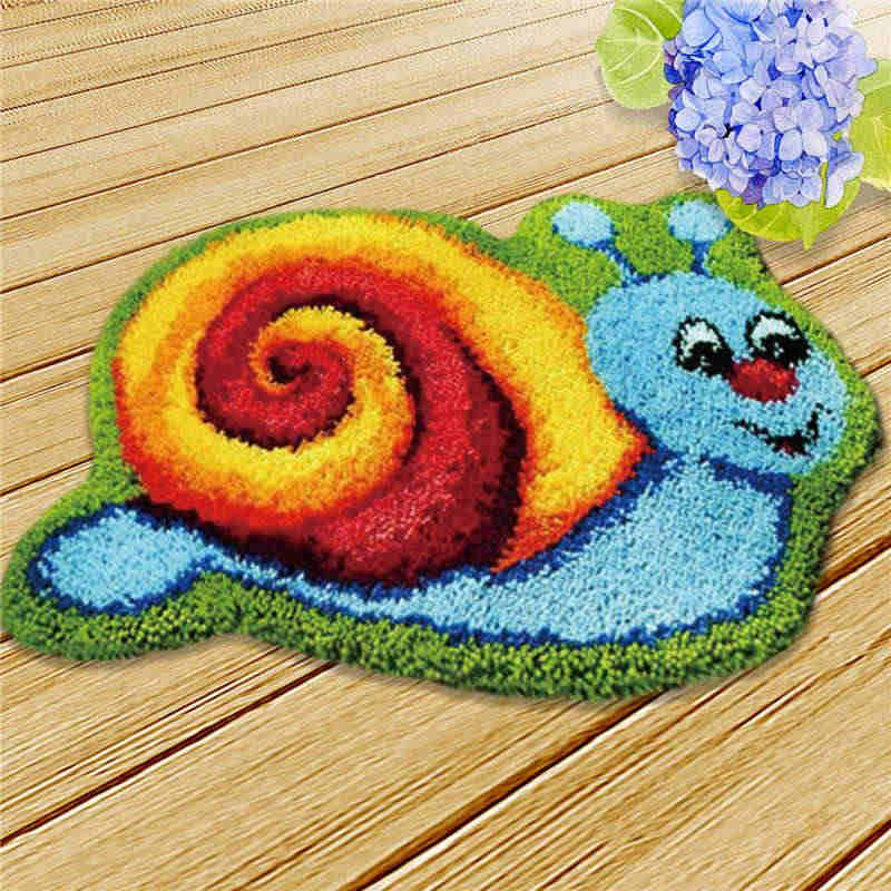 חמוד תפס וו שטיח ערכות וו סרוג רקמת ללבוד צלב סטיץ ערכות רקמת תפר חוט שטיח לילדים